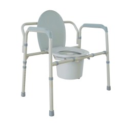 Bariatric Transport Chair 24 Seat Car Covers Walmart Folding Commode Ideal Medical Supply