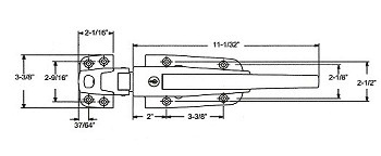Kason 56 Latch flush Stainless Steel complete w/inside