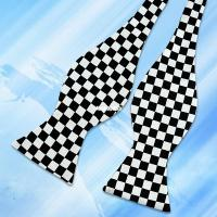 Black and White Checkered Flag Freestyle Bow Tie - Tie'N ...