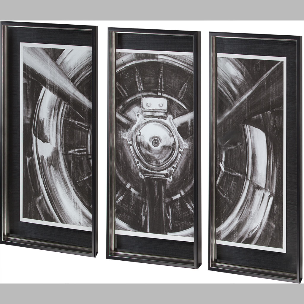 3 Piece Vintage Airplane Wall Art Theres No Place Like