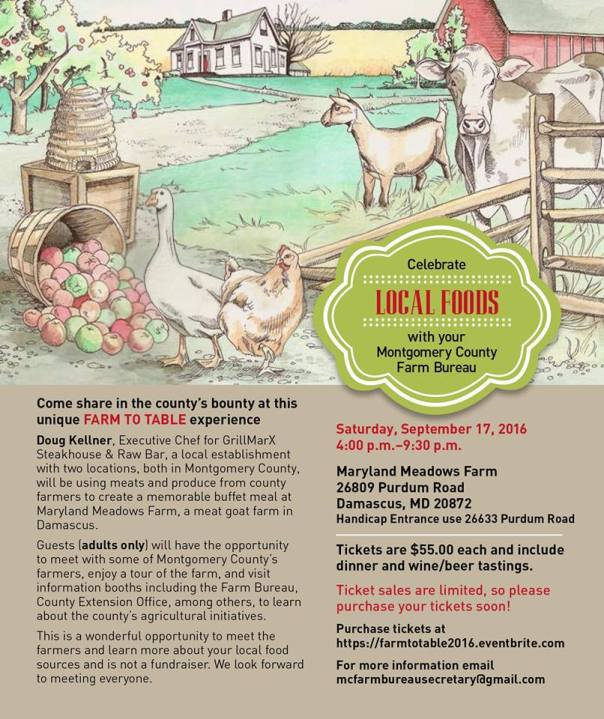 Farm to Table Event Sep17