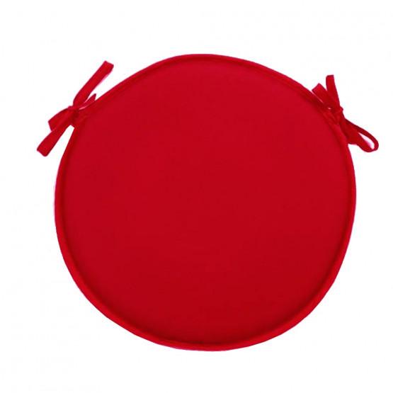 coussin de chaise rond uni rouge diametre 40 cm