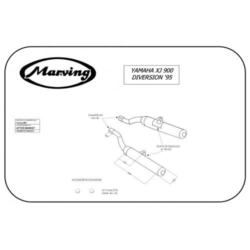 Marving udstødning til YAMAHA XJ 900 1995-2000