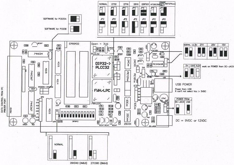 Standard PCB3B Willem Programmer User Guide