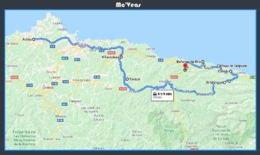 mapa ruta el mazucu
