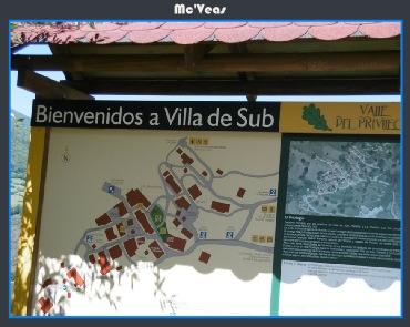 Cartel bienvenidos a villa de Sub