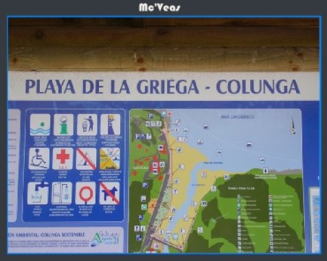 cartel playa de la Griega