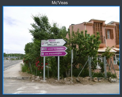 Indicador carretera mirador de Orellán