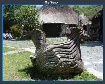 escultura gallina