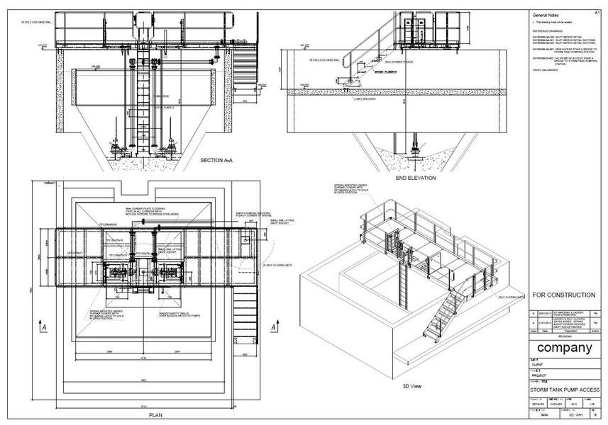 Walkway & platform drawings