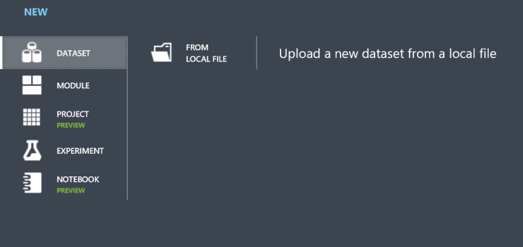 Azure-ML-Upload-datafile
