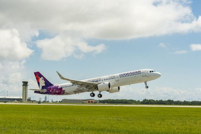 A321neo HawaiianAirlines first US delivery