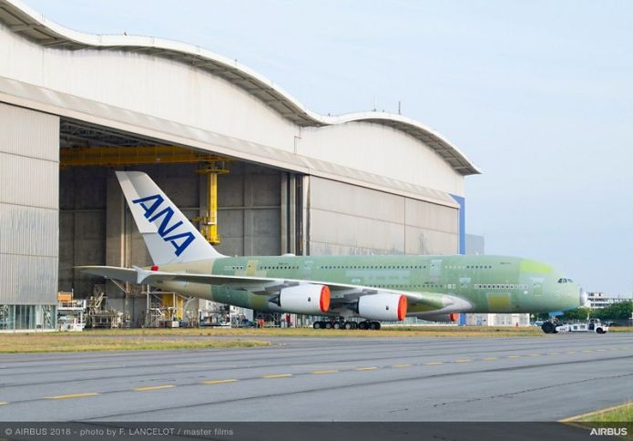 A380 ANA MSN262 rolls out