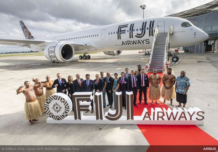 A350 900 Fiji Airways MSN299 delivery on board portraits 001