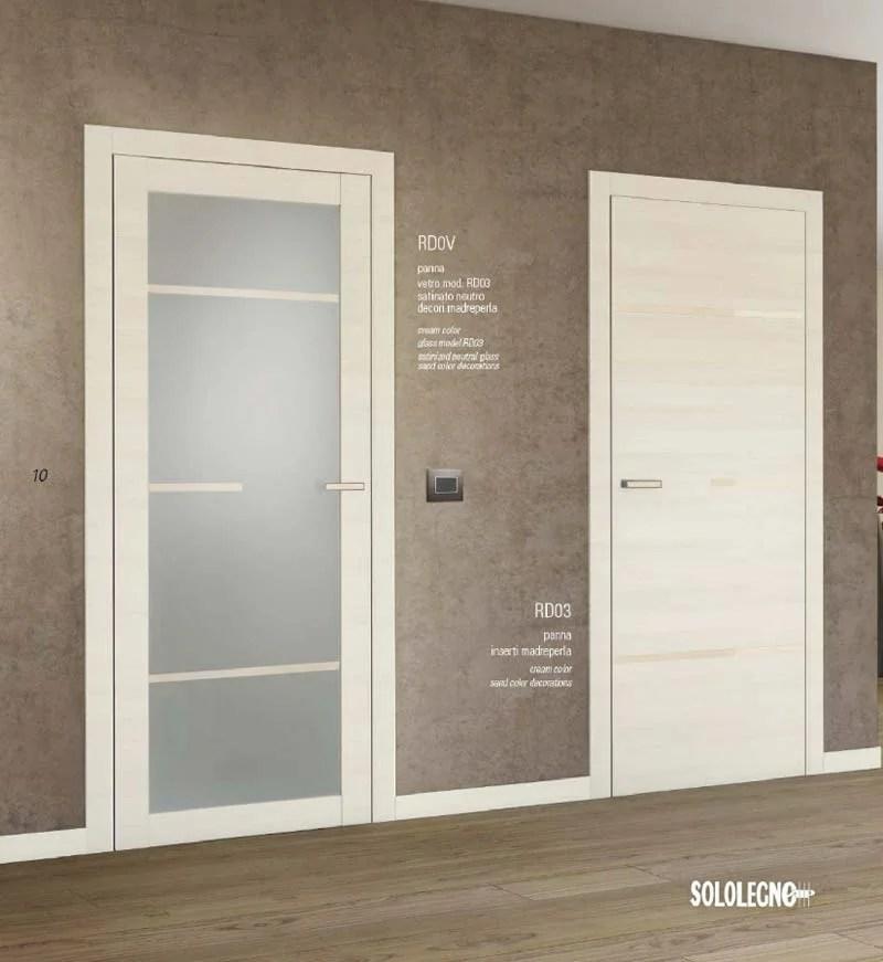Porte interne con vetro e porta blindata su misura Cesano
