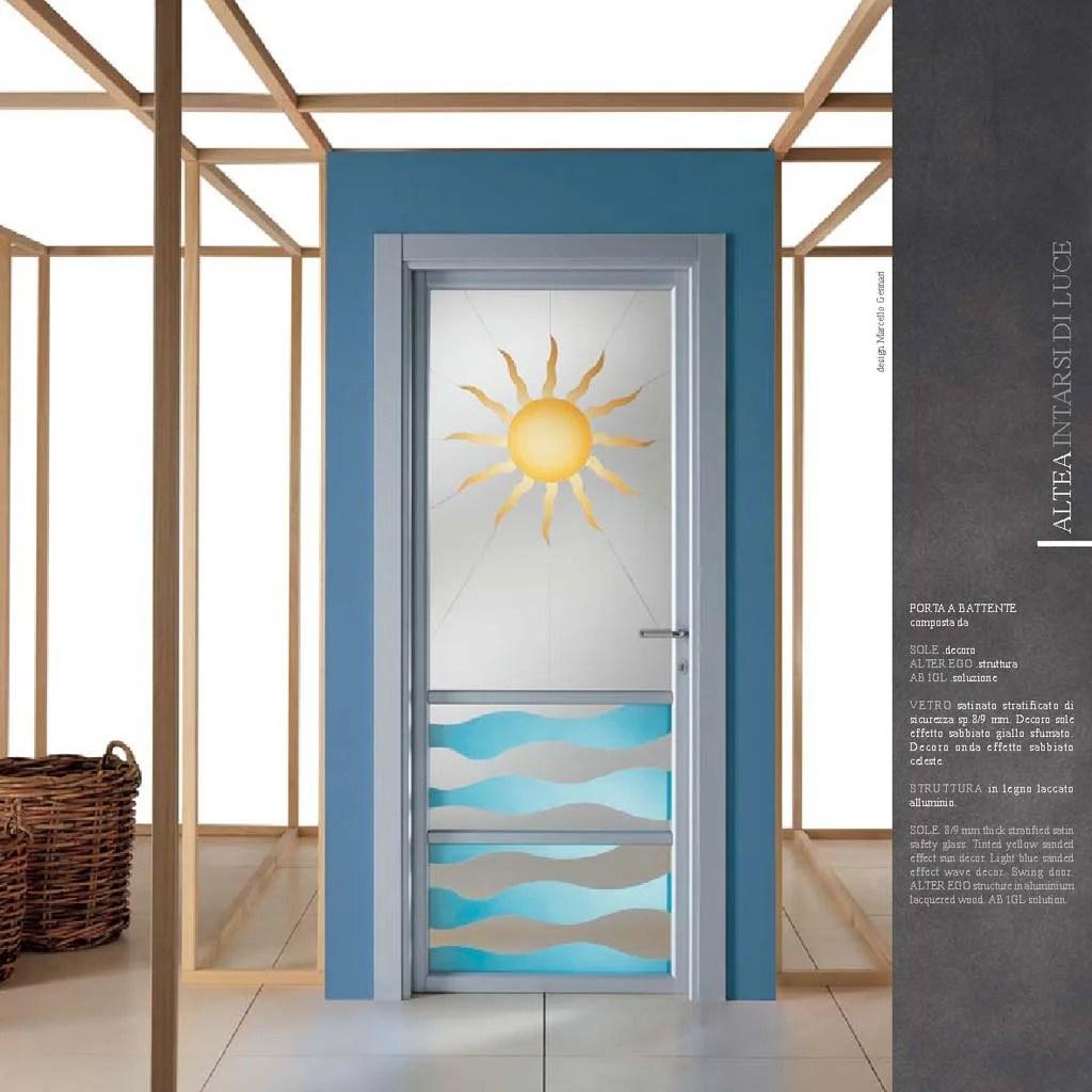 Porte Decoro Sole con vetro satinato  MdbPortas