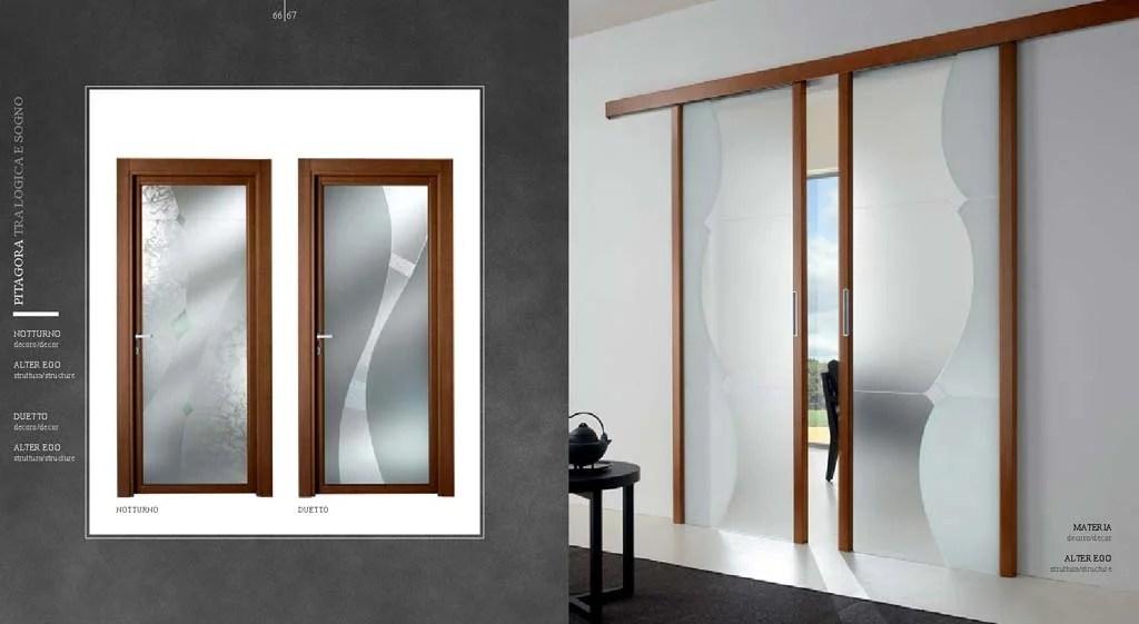 Porta scorrevole esterno muro a due ante in vetro da MDB