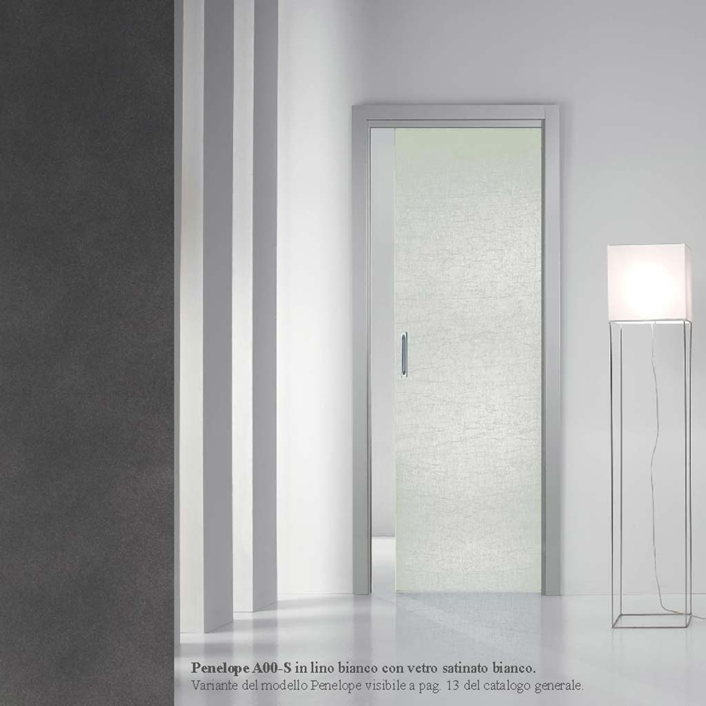 porta scorrevole in vetro satinato bianco  MDB Portas Nurith Milano