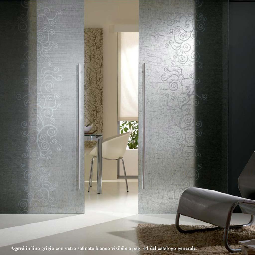 Porta Scorrevole Agora lino grigio  MdbPortas