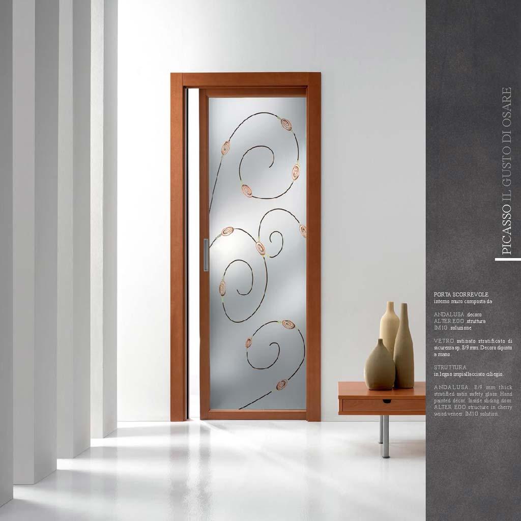 Porte interne in legno in vetro scorrevoli a Milano