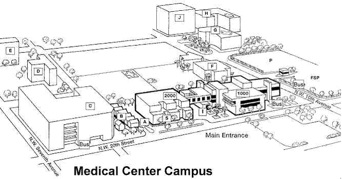 A City Map to Locate the Medical Campus