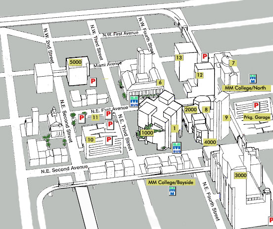 Miami Dade College North Campus Map