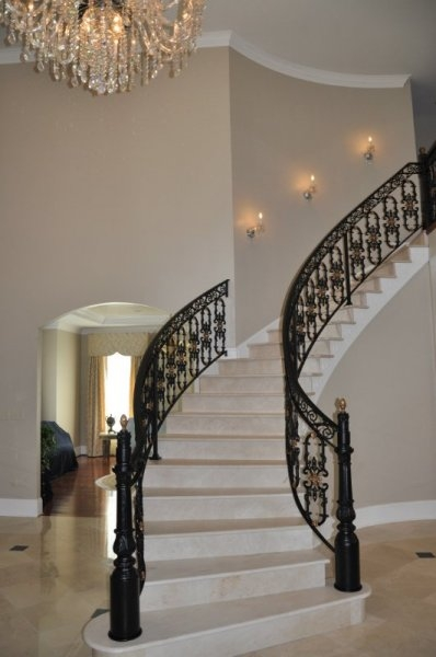 Affordable Railings Maryland Cast Iron Railing Fence Dc Md | Cast Iron Handrails For Stairs | Baluster Curved Stylish Overview Stair | 1920'S | Iron Railing | Exterior Stair | Georgian