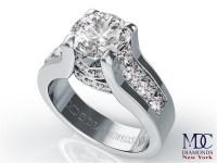 Engagement Ring -Modern Bridal Set Diamond Engagement Ring ...