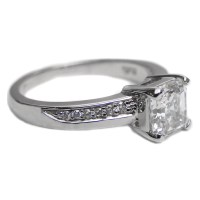 Engagement Ring -Vintage Design Asscher Cut Diamond Swirl ...