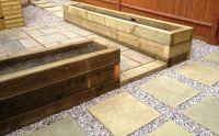 Raised beds / patio construction - MDC Landscapes Ltd.