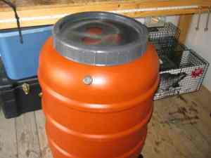 55 gallon water drum for catching rain water