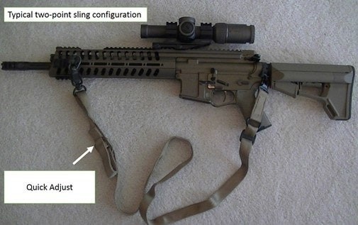 photo showing a two-point sling configuration