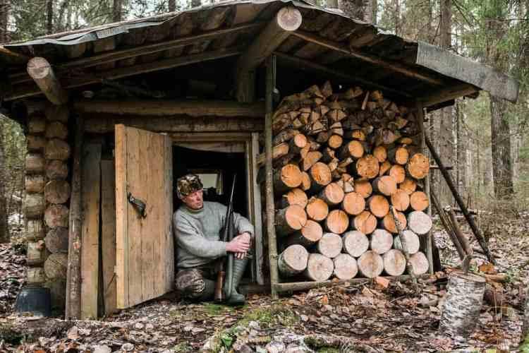 long-term bushcraft shelter