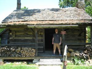 Me at mark twain's cabin.