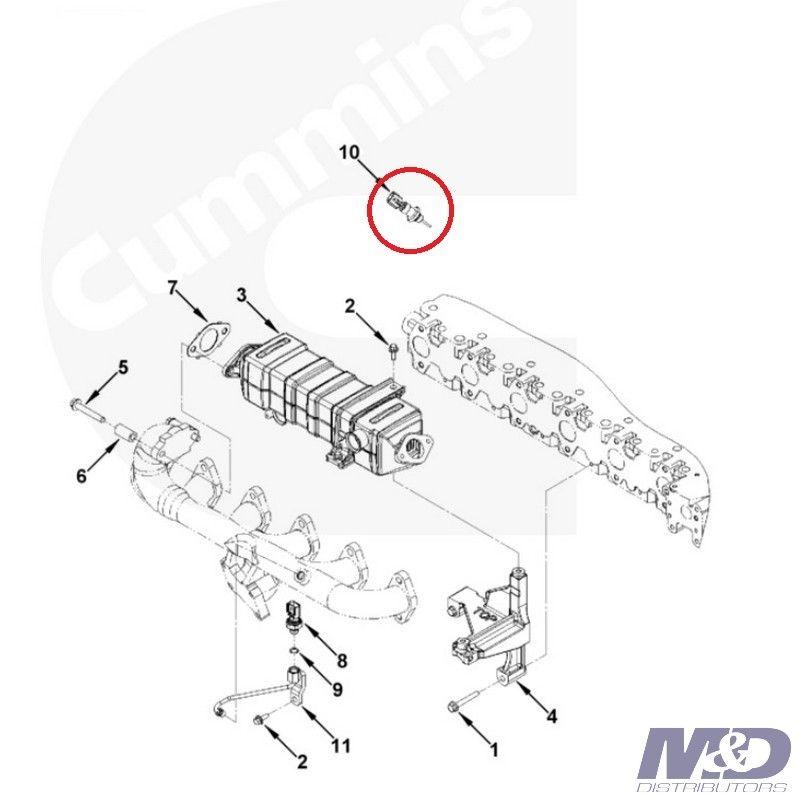 3.9L/5.9L/6.7L Cummins EGR Cooler Temperature Sensor M&D