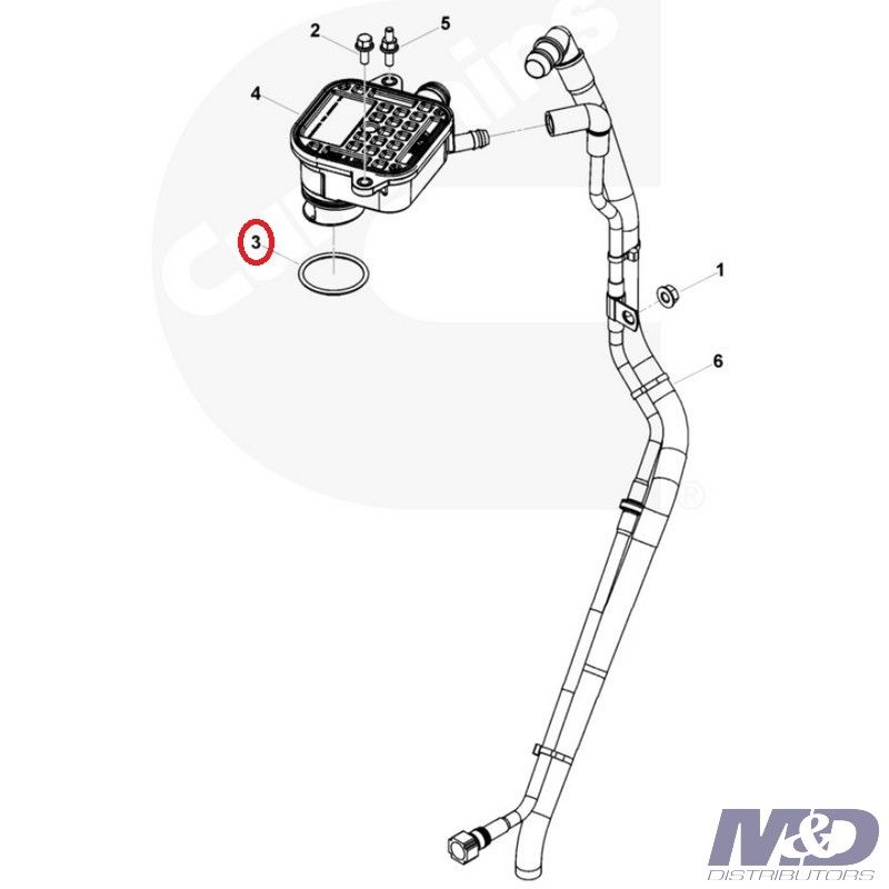 Dodge 3.9L, 5.9L Cummins ISB Crankcase Breather O-Ring