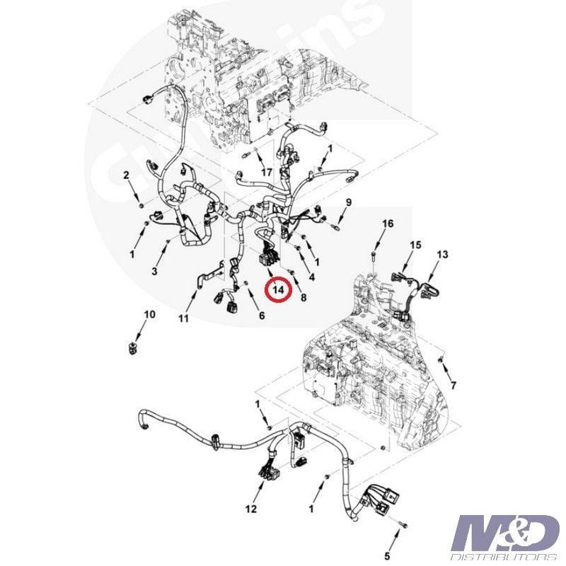 Electronic Control Module (ECM) Wiring Harness 3964768