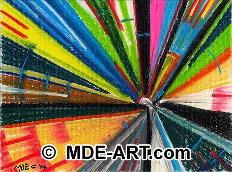 Abstract art created with colorful pastels