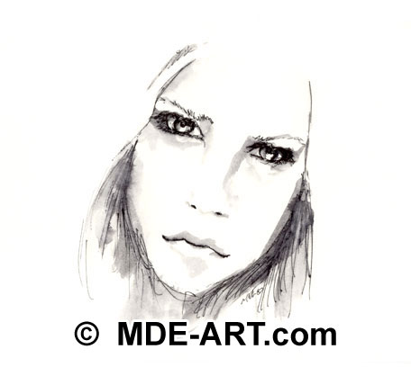 Avril Lavigne, Pen Drawing Fan Art