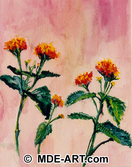 A watercolor painting of flowers