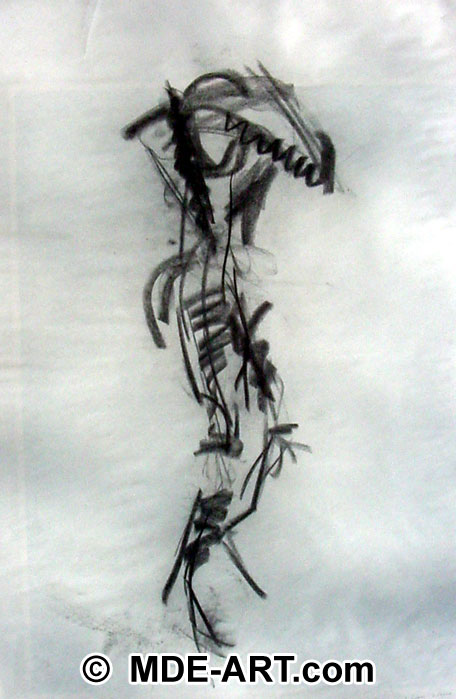 Charcoal Gesture Drawing