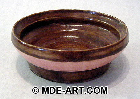 Ceramic Bowl painted with Glaze