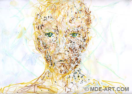Impressionistic Drawing of a Human Face