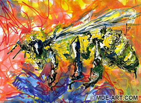 Abstract Drawing of a Bee