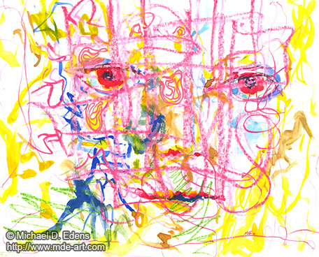 Organism - Abstract Portraits and Faces - Sadness and Frustration Series