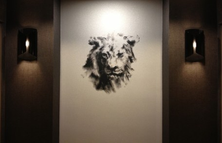 "Michael D. Edens' ""Lion"" artwork in all 23 elevator lobbies of the InterContinental Chicago Magnificent Mile"