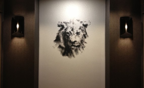 """Michael D. Edens' """"Lion"""" artwork in all 23 elevator lobbies of the InterContinental Chicago Magnificent Mile"""