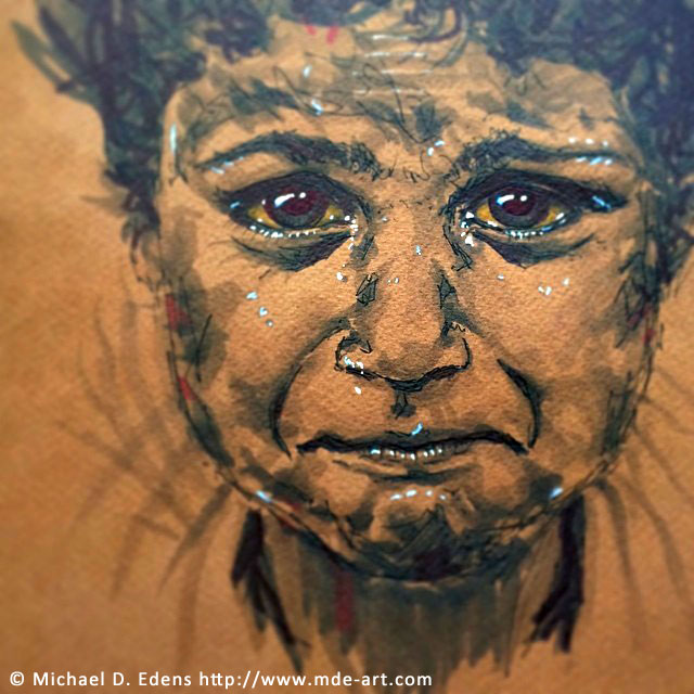 Drawing of a Gypsy Child