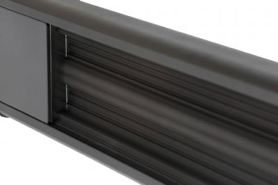 glow wall mounted patio heater w remote blk