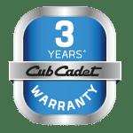Overtuigd van de kwaliteit en duurzaamheid van materialen, biedt Cub Cadet 3 jaar garantie op alle machines.